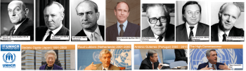 UNHCRS' champion the plight of refugees: From Gerrit Jan van Heuven Goedhart to Prince Sadruddin Aga Khan to Filippo Grandi