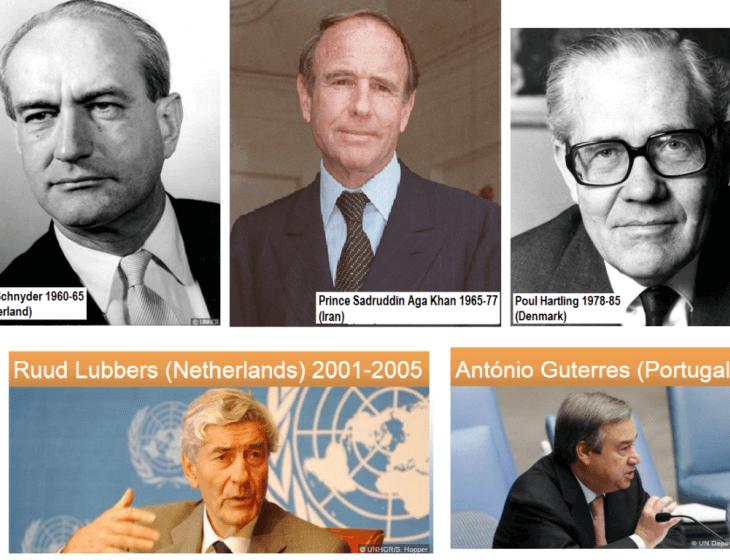 UNHCRS' champion the plight of refugees: From Gerrit Jan van Heuven Goedhart to Prince Sadruddin Aga Khan to Filippo Grandi
