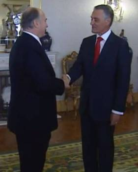 Portuguese President Cavaco Silva and His Highness Prince Karim Aga Khan