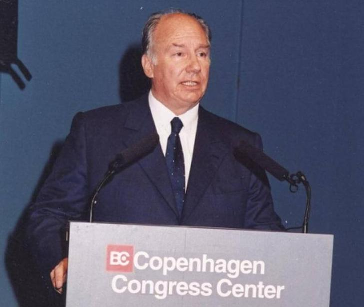 Chancellor of the Aga Khan University, His Highness the Aga Khan delivering speech at the Archon Award Ceremony of Sigma Theta Tau International, Copenhagen