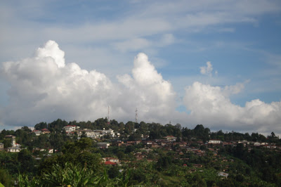 Town of Tukuyu as seen from the village of Bujinga. Look closely and you will see the Moravian Church and Shule ya Msingi Bagamoyo.