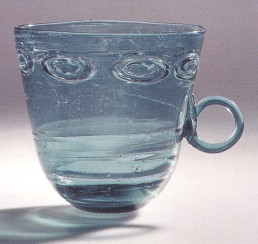 Blue glass cup, Egypt, 9-11th century, Victoria and Albert Museum
