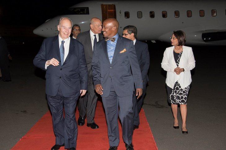 His Highness the Aga Khan arrives in Kenya
