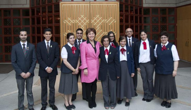 British Columbia Premier Christy Clark visits the Ismaili Centre, Burnaby