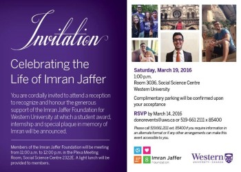 Imran Jaffer Memorial Reception