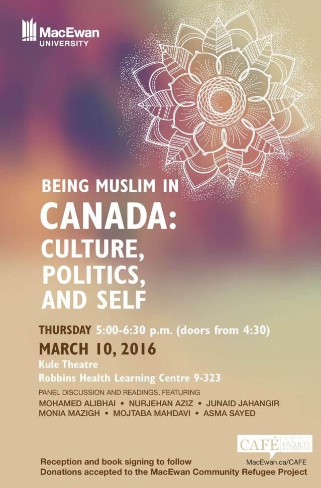 Book Launch Event: Being Muslim in Canada: Culture, Politics and Self