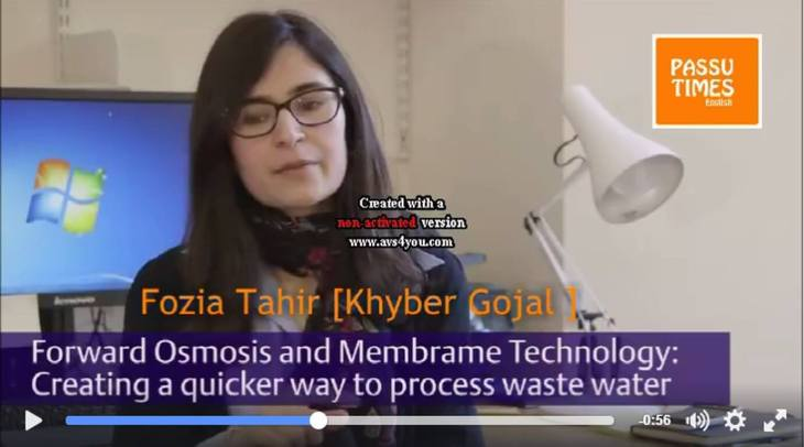 Fozia Tahir: Waste Water Treatment - Oxford University
