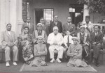 Imam Sultan Mahomed Shah and Mawlana Hazar Imam with members of the Ismaili Council for Kenya, in Nairobi, April 22, 1945. (Photo: The Ismailis: An Illustrated History)