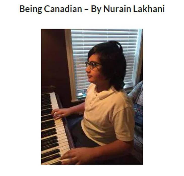 Poem: Being Canadian – By Nurain Lakhani, 11 years old