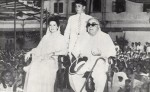 During his Diamond Jubilee visit to Bombay, with Mata Salamat and Prince Sadruddin (Photo: A.P./Ilm, Centennary Issue)