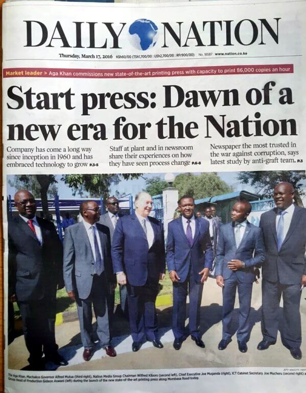 New dawn as 'Nation' commissions new press | Daily Nation Kenya