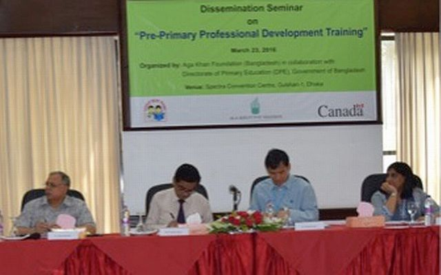 Aga Khan Foundation trains pre-primary teachers in Dhaka, Bangladesh