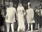 Imam Sultan Mahomed Shah with Mata Salamat and Prince Sadrudin at the Diamond Jubilee celebration. (Photo: Memoirs of Aga Khan)