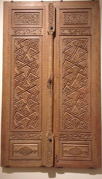 An example of ornamented door with carved motifs in the Museum Collection (Photo by Alyna Nanji)