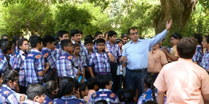 World Heritage Day celebration with school children at the Humayun's Tomb
