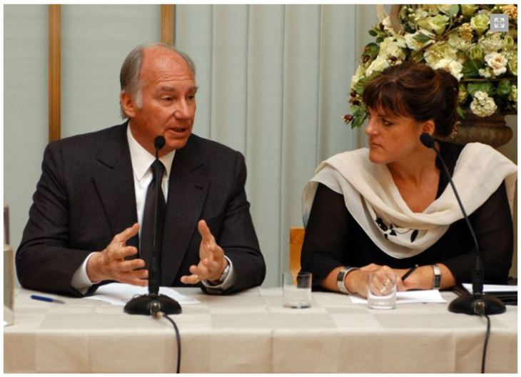His Highness the Aga Khan and Hilde F. Johnson, Minister for International Development, respond to questions at the seminar. The session was moderated by Mr Henrik Syse, Senior Researcher, of the International Peace Research Institute Oslo, PRIO. - Photo: AKDN/Gary Otte