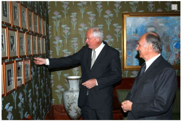 His Highness the Aga Khan is received by Mr Geir Lundestad, Director of the Nobel Institute. - Photo: AKDN/Gary Otte