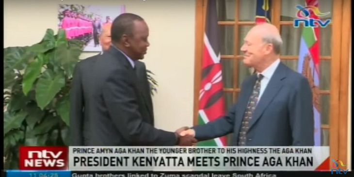 NTV Video Kenya: President Kenyatta meets Prince Amyn Aga Khan