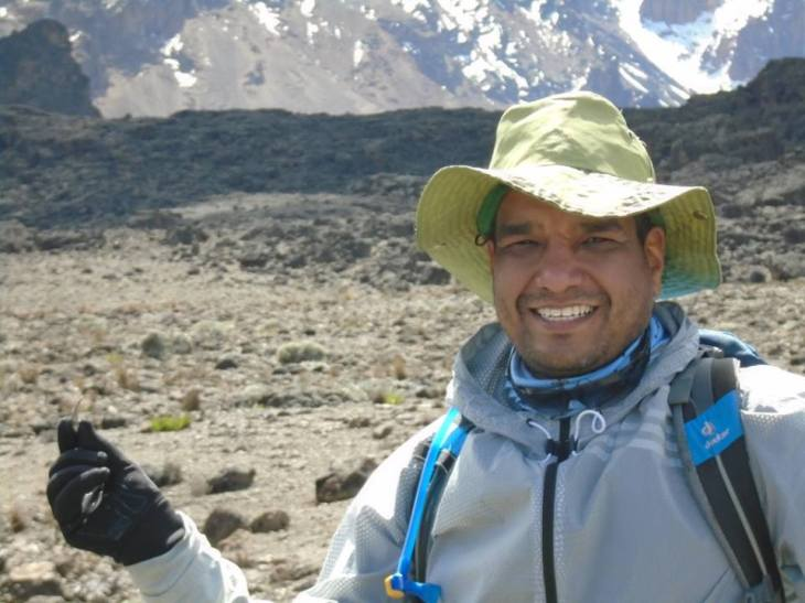Girish Agarwal climbed Mt. Kilimanjaro to raise funds for Aga Khan Development Network