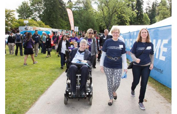 Hundreds of people participate in the World Partnership Walk presented by the Aga Khan Foundation at Stanley Park, in Vancouver, BC., May 29, 2016.