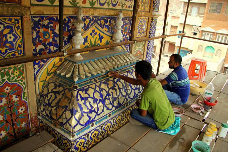 Conservation of Wazir Khan Masjid begins in Lahore