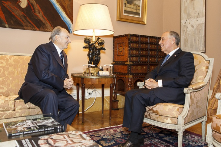 Photos: President of the Portuguese Republic receives His Highness the Aga Khan at Belém Palace