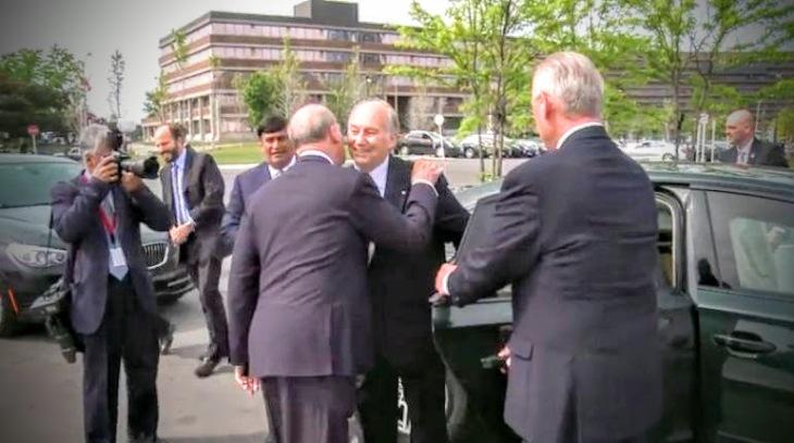 HH the Aga Khan at the Inauguration of the Aga Khan Park, Toronto, May 26, 2015