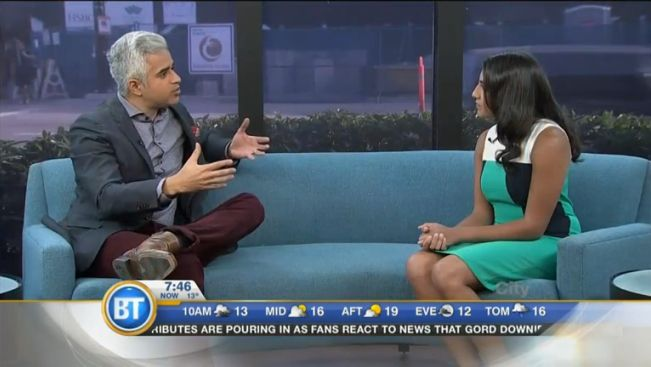 Attiya Hirji of Aga Khan Foundation Canada on Breakfast TV Vancouver's host Riaz Meghji