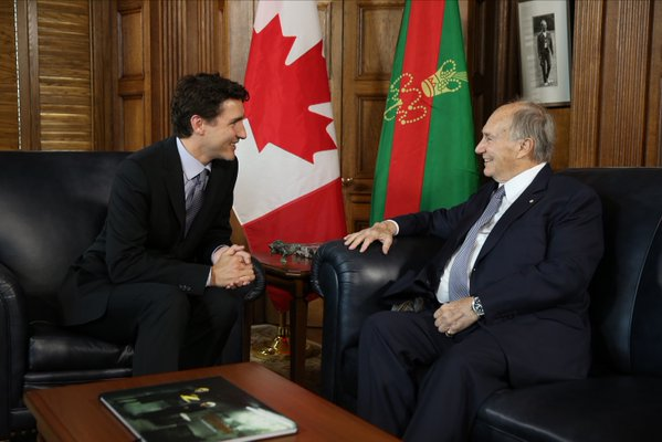 Prime Minister Trudeau discussed pluralism, human rights and respect for diversity with His Highness the Aga Khan