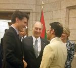 MP Arif Virani with His Highness the Aga Khan & PM Justin Trudeau at Parliament Hill