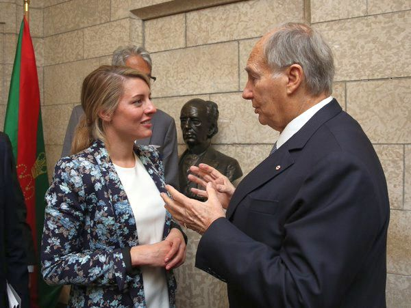 Member Parliament of Canada Hon Mélanie Joly welcomes His Highness the Aga Khan