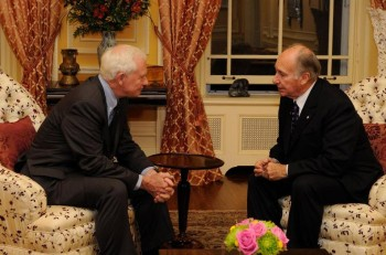 His Highness the Aga Khan meeting with the Right Honourable David Johnston, Governor General of Canada, October 7, 2010. Photo: Governor General's website