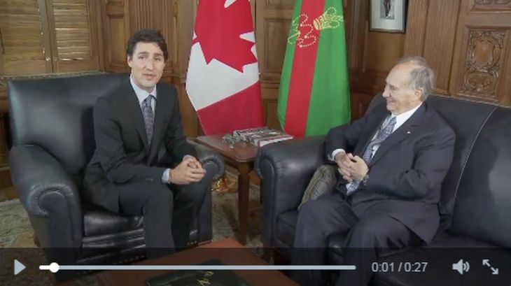 Video: Canadian Prime Minister, Justin Trudeau welcomes His Highness the Aga Khan