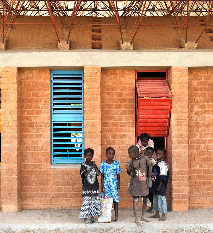 The library at the Gando school, which accommodates 900 students. Francis Kéré's design approach is now inspiring First World architects eager to tackle problems of sustainability and equity. (Image credit: KÉRÉ ARCHITECTURE)