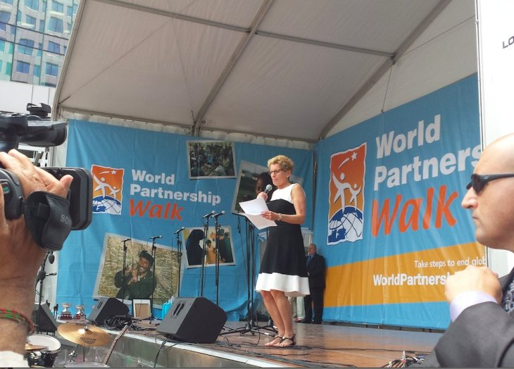 Ontario's Premier Kathleen Wynne - 2015 World Partnership Walk