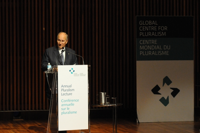 Global Centre for Pluralism Annual Lecture 2016 Introductory Remarks by His Highness the Aga Khan