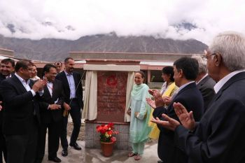 A 50-bed medical centre was inaugurated by Princess Zahra Aga Khan and Prince Rahim Aga Khan during their visit to Gilgit on Tuesday