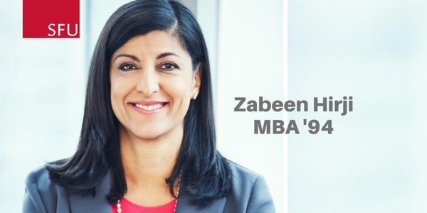 SFU Outstanding Alumni Award presented to Zabeen Hirji
