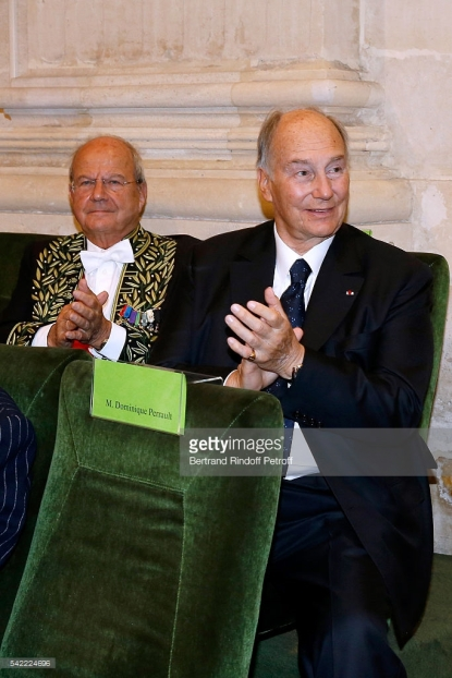 His Highness the Aga Khan installs French Architect Dominique Perrault at French Académie des Beaux-Arts