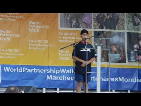 Ilyas Jaffer sings National anthem at the 2016 Partnership Walk in Montreal