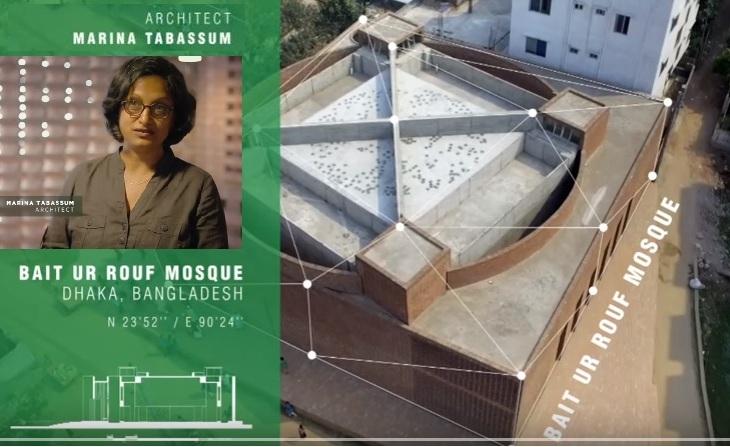 Bait Ur Rouf Mosque, Dhaka by Architect Marina Tabassum, shortlisted for 2016 Aga Khan Award for Architecture (Image via AKDN)