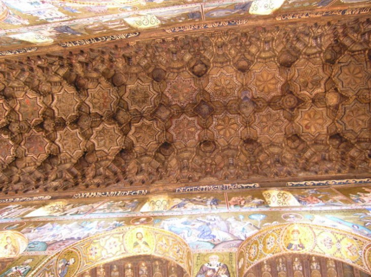 Ceiling of the Cappella Palatina, Palermo. Image: Wikipedia