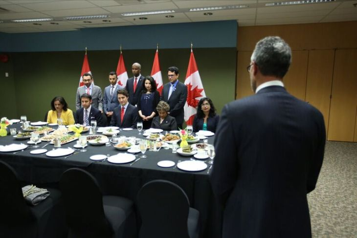 Ismaili Muslim Senators, Arif Virani and Yasmin Ratansi at Iftar Dinner with Canadian Prime Minister Justin Trudeau
