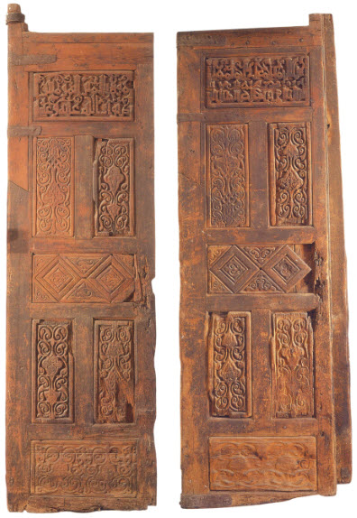 Pair of doors ordered by Imam al-Hakim for al-Azhar in 1010. Cairo, Museum of Islamic Art. Image: Jonathan Bloom, Arts of the City Victorious.