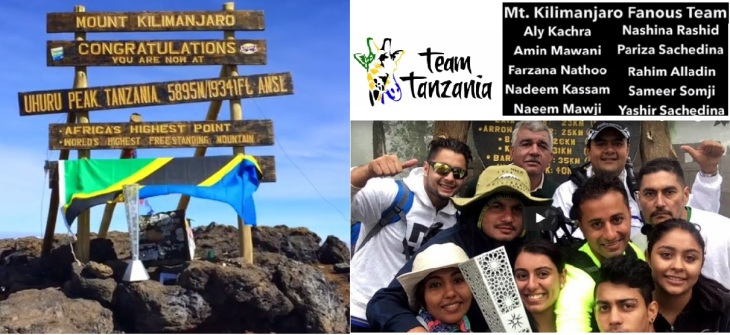 Team Tanzania on their epic trip, taking Fanous to new heights - atop snowy slopes of Uhuru Peak on Mt. Kilimanjaro.