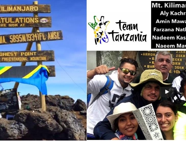 Team Tanzania on their epic trip, taking Fanous to new heights - atop snowy slopes of Uhuru Peak on Mt. Kilimanjaro.