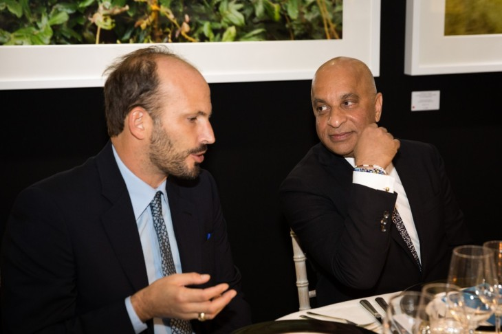 Lord Rumi Verjee in conversation with Prince Hussain Aga Khan. (Image Credit: The Rumi Foundation)