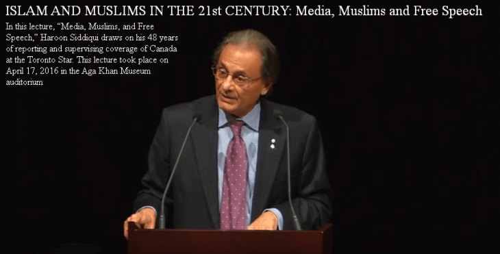 Islam & Muslims in the 21st Century: Media, Muslims and Free Speech - Toronto Star's Haroon Siddiqui's Lecture at the Aga Khan Museum