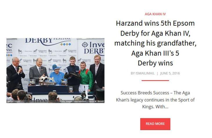 Harzand English Derby win