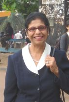 Dilshad Sumar at the Makere University in Kampala